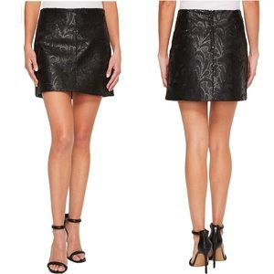 Blank NYC Sequin Embroidered Vegan Leather Skirt